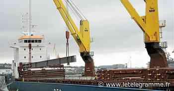 La charpente métallique de la centrale au gaz de Landivisiau débarquée au port de Brest - Le Télégramme