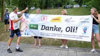 Charity-Radler Binder aus Leingarten angekommen - SWR