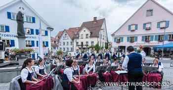 Stadtkapelle Tettnang spielt auf dem Bärenplatz - Schwäbische