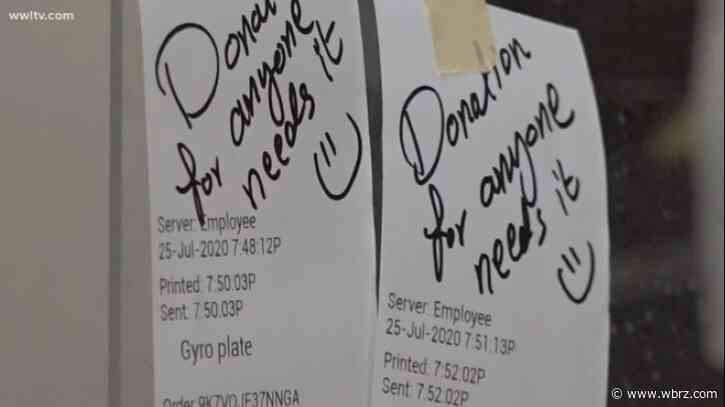 Generous customers at NOLA restaurant regularly purchase meals for strangers amid pandemic