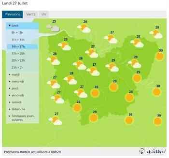 La météo de ce lundi 27 juillet 2020 à Pont-Audemer - actu.fr