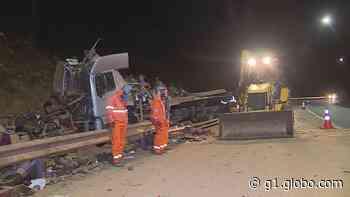 Motorista morre em acidente com caminhão na Rodovia Fernão Dias, em Brumadinho - G1