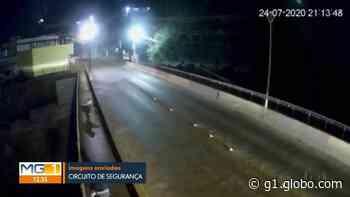 Câmera de segurança flagra pessoa arremessando cachorro de ponte em Brumadinho - G1