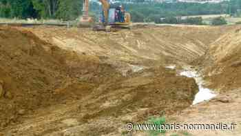 Les travaux de la ligne Serqueux-Gisors ont repris à Ferrières-en-Bray - Paris-Normandie