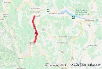 Vehicle incident causes wildfire off Highway 1 near Cache Creek - Barriere Star Journal