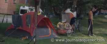Des itinérants campent près du centre-ville