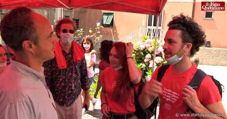 """Sardine, la fine del tour a casa di Pertini. E sostengono la candidatura di Sansa in Liguria: """"Con lui processo di rinnovamento"""""""