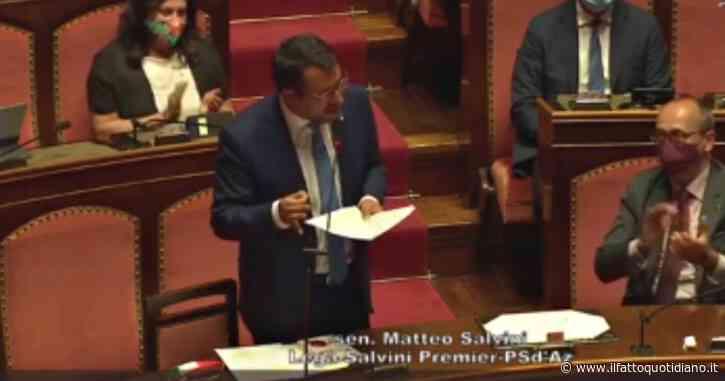 """Salvini a Conte: """"Mente agli italiani, l'emergenza non esiste se non nella vostra testa"""""""