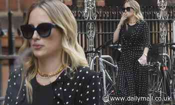 Made in Chelsea's Rosie Fortescue puffs on cigarette in London