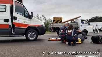 Motociclista fica ferido em colisão com caminhão na PR-323, em Umuarama - ® Portal da Cidade   Umuarama