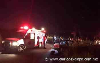 Taxi se salió del libramiento de Coatepec y chocó; hay una lesionada - Diario de Xalapa