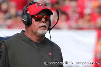 Bruce Arians will coach from the sideline with a mask and face shield