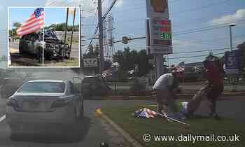 Unconscious driver rescued from car just before it caught fire
