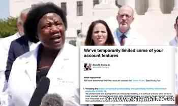 Hydroxychloroquine post gets Donald Trump Jr Twitter suspension
