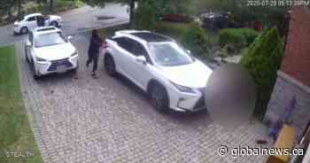 Video appears to show violent daylight shooting outside Pickering home