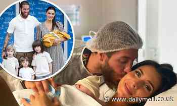 Sergio Ramos, 34, reveals wife Pilar Rubio, 42, has given birth to their fourth son Máximo Adriano