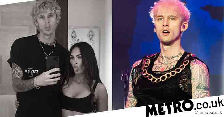 Machine Gun Kelly couldn't be more loved-up with girlfriend Megan Fox as he declares: 'Waited for eternity to find you'