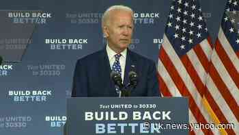 Biden: Trump determined to stoke division and chaos