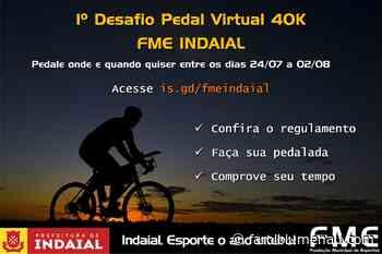 Fundação de Esportes de Indaial lança desafio pedal virtual 40k - Farol Blumenau