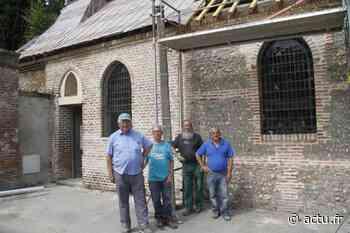 En travaux depuis 2017, la chapelle de Belloy à Friville-Escarbotin couverte d'un nouveau toit - actu.fr