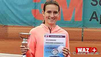 Gladbecker Tennistalent gewinnt Juniorenturnier in Meerbusch - Westdeutsche Allgemeine Zeitung