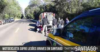 Motociclista sofre lesões graves em Santiago após acidente - Adriano Rodrigues