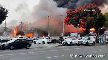 5-alarm fire burns multiple buildings in SF
