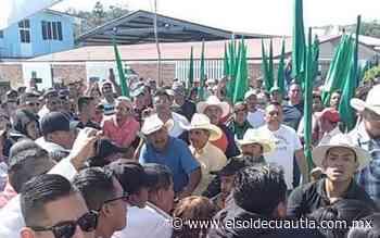 [Video] Con protestas reciben a AMLO en Anenecuilco; seguridad los amenaza - El Sol de Cuautla