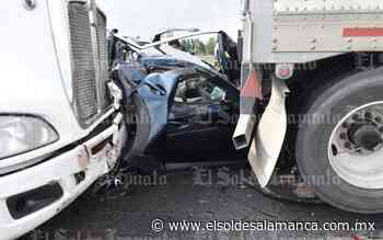 Chocan dos trailers en la autopista Celaya - Salamanca - El Sol de Salamanca