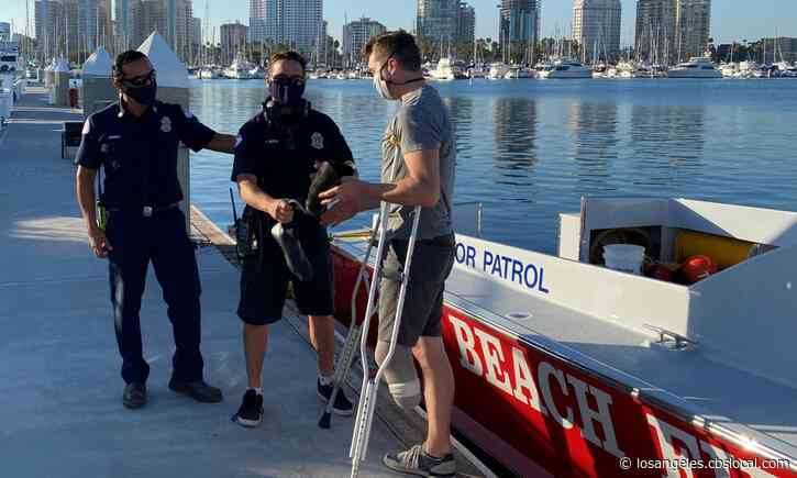 Long Beach FD Divers Find, Return Missing Prosthetic Leg To Paralympian