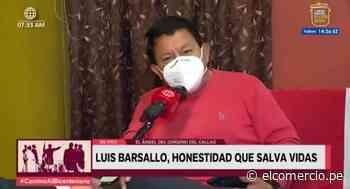 'El ángel del oxígeno' del Callao envió mensaje a los peruanos por Fiestas Patrias - El Comercio Perú