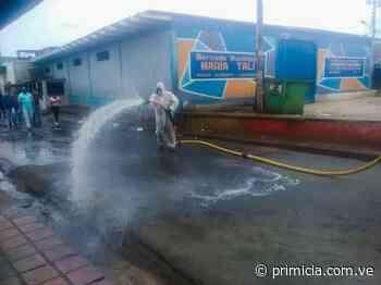 Desinfectan los mercados de El Callao - primicia.com.ve