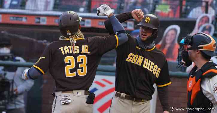 Padres top Giants 5-3 for first win of opening road series