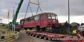 Genthin: Schienenbus schwebt im Chemiepark ein - Volksstimme