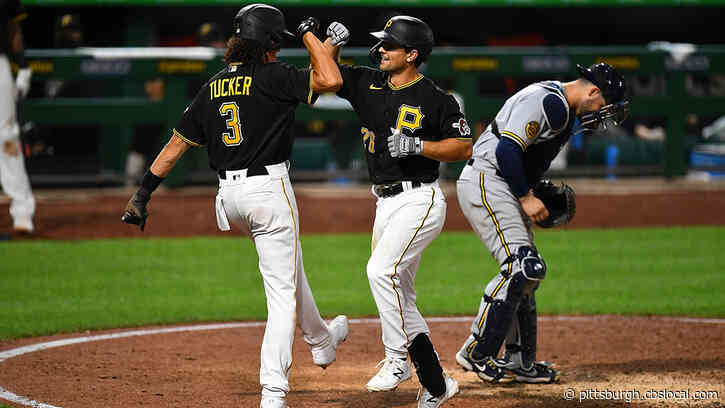 Frazier's 8th Inning Home Run Helps Lift Pirates Past Brewers 8-6