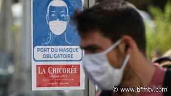 Covid-19: le port du masque pourrait-il réduire la charge virale de la maladie au moment de la... - BFMTV