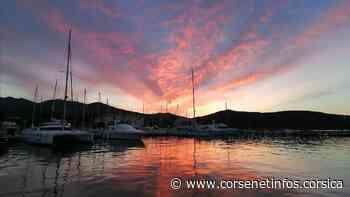 La photo du jour : quand la nuit tombe sur le port de Macinaggio - Corse Net Infos