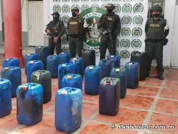 Policía Fiscal y Aduanera incautó 200 galones de ACPM contrabando en Arauca - Diario del Sur