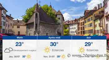 Météo Annecy: Prévisions du mercredi 29 juillet 2020 - 20minutes.fr