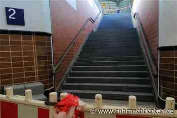 Neue Bahnhofs-Treppe schon erkennbar, Schutz vor Tauben folgt - Ruhr Nachrichten