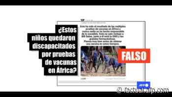La foto muestra a menores con poliomielitis en Sierra Leona en 1998 - AFP Factual