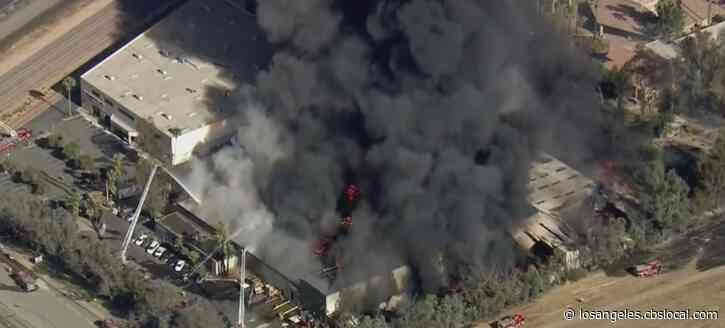 Fire Erupts At Salvation Army Facility In Perris
