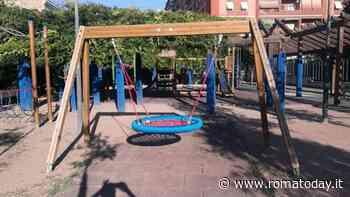 Pigneto, sistemati i giochi per bambini del giardino Galafati