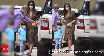 Pics: Bebo steps out with son Taimur Ali Khan