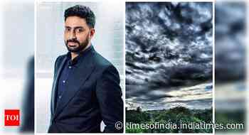 Abhishek shares a pic of the cloudy sky