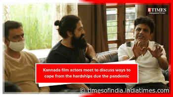 Kannada film stars meet at Shivarajkumar's residence to discuss the roadmap ahead