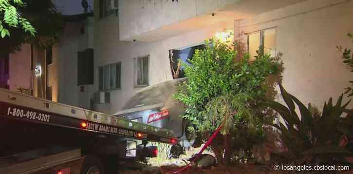 Car Slams Into Apartment Living Room In West Hollywood