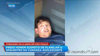 Homem acusado de sequestrar e estuprar cunhada é preso em Atibaia (SP) - Record TV