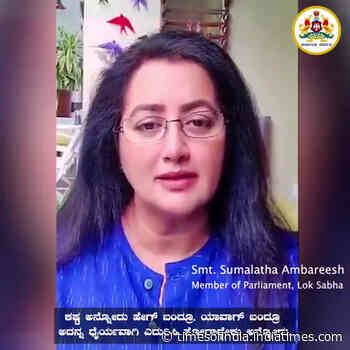 Sumalatha Ambareesh, who recovered from Covid-19, shares an important message