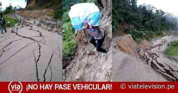 Urgente: Carretera Fernando Belaúnde se hunde entre Juanjuí y Tocache - viatelevision.pe